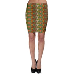 Geo Fun 7 Warm Autumn  Bodycon Skirts