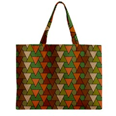 Geo Fun 7 Warm Autumn  Zipper Tiny Tote Bags