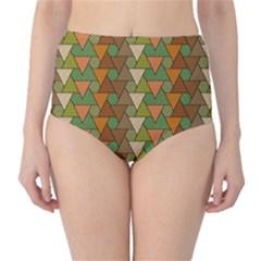 Geo Fun 7 Warm Autumn  High-Waist Bikini Bottoms