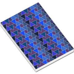 Geo Fun 7 Inky Blue Large Memo Pads
