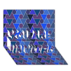 Geo Fun 7 Inky Blue You Are Invited 3d Greeting Card (7x5)