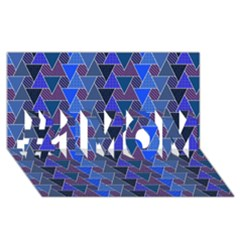 Geo Fun 7 Inky Blue #1 MOM 3D Greeting Cards (8x4)