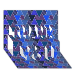 Geo Fun 7 Inky Blue THANK YOU 3D Greeting Card (7x5)