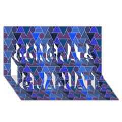 Geo Fun 7 Inky Blue Congrats Graduate 3D Greeting Card (8x4)