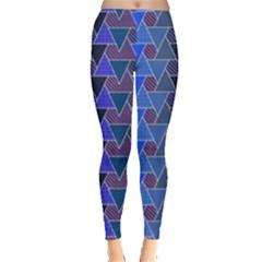 Geo Fun 7 Inky Blue Women s Leggings