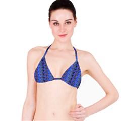 Geo Fun 7 Inky Blue Bikini Tops