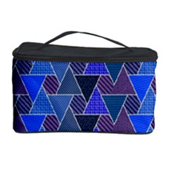 Geo Fun 7 Inky Blue Cosmetic Storage Cases