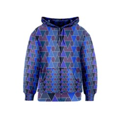 Geo Fun 7 Inky Blue Kids Zipper Hoodies