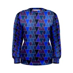 Geo Fun 7 Inky Blue Women s Sweatshirts