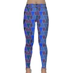 Geo Fun 7 Inky Blue Yoga Leggings
