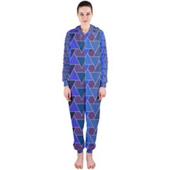 Geo Fun 7 Inky Blue Hooded Jumpsuit (Ladies)