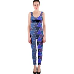 Geo Fun 7 Inky Blue Onepiece Catsuits