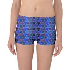 Geo Fun 7 Inky Blue Boyleg Bikini Bottoms