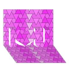 Geo Fun 7 I Love You 3d Greeting Card (7x5)