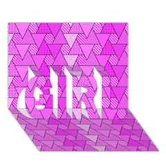 Geo Fun 7 GIRL 3D Greeting Card (7x5)