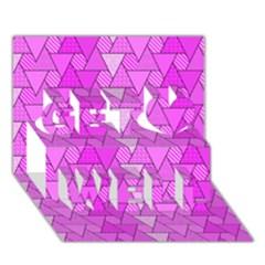 Geo Fun 7 Get Well 3d Greeting Card (7x5)