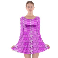 Geo Fun 7 Long Sleeve Skater Dress