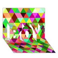 Geo Fun 07 Boy 3d Greeting Card (7x5)
