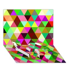 Geo Fun 07 Love Bottom 3d Greeting Card (7x5)