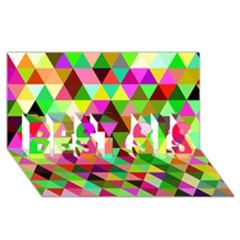 Geo Fun 07 BEST SIS 3D Greeting Card (8x4)