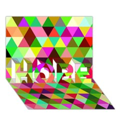 Geo Fun 07 HOPE 3D Greeting Card (7x5)