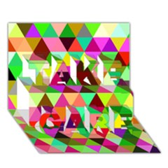 Geo Fun 07 TAKE CARE 3D Greeting Card (7x5)