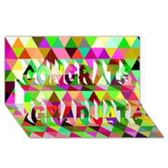 Geo Fun 07 Congrats Graduate 3d Greeting Card (8x4)