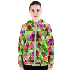 Geo Fun 07 Women s Zipper Hoodies