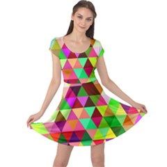 Geo Fun 07 Cap Sleeve Dresses