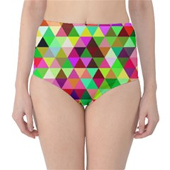 Geo Fun 07 High-Waist Bikini Bottoms