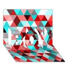 Geo Fun 07 Red Boy 3d Greeting Card (7x5)