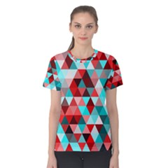 Geo Fun 07 Red Women s Cotton Tees