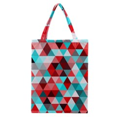 Geo Fun 07 Red Classic Tote Bags