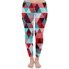 Geo Fun 07 Red Winter Leggings