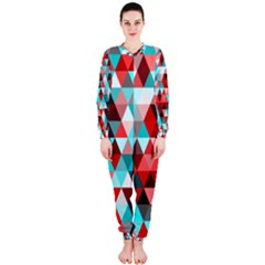 Geo Fun 07 Red Onepiece Jumpsuit (ladies)