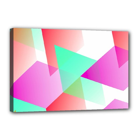 Geometric 03 Pink Canvas 18  X 12