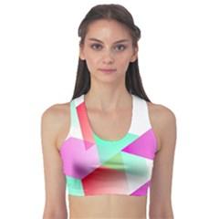 Geometric 03 Pink Sports Bra