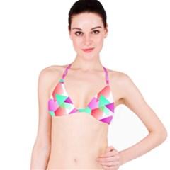 Geometric 03 Pink Bikini Tops