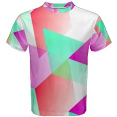 Geometric 03 Pink Men s Cotton Tees