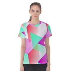 Geometric 03 Pink Women s Cotton Tees