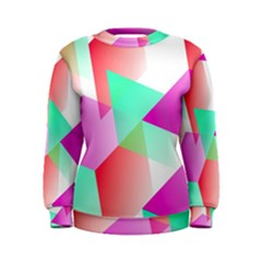 Geometric 03 Pink Women s Sweatshirts