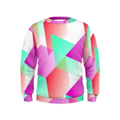 Geometric 03 Pink Boys  Sweatshirts
