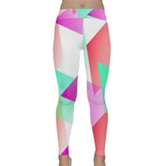 Geometric 03 Pink Yoga Leggings