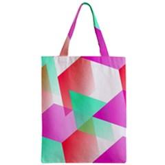 Geometric 03 Pink Zipper Classic Tote Bags