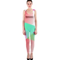 Geometric 03 Pink OnePiece Catsuits