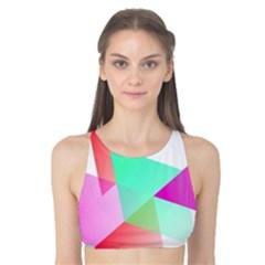 Geometric 03 Pink Tank Bikini Top