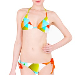 Geometric 03 Orange Bikini Set