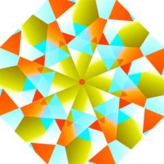 Geometric 03 Orange Golf Umbrellas