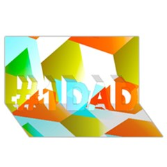 Geometric 03 Orange #1 DAD 3D Greeting Card (8x4)