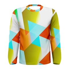 Geometric 03 Orange Men s Long Sleeve T-shirts